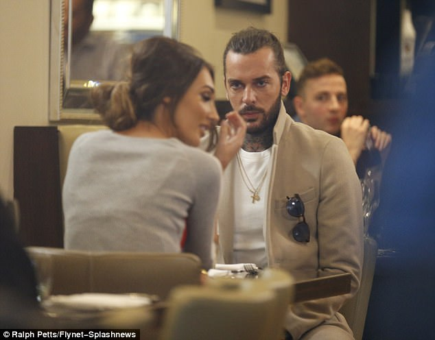 Megan was seen arguing with Pete Wicks again on Monday, a week after they had formally broken up. The brunette beauty was seen walking out on her ex over dinner, in scenes set to air on TOWIE later this month