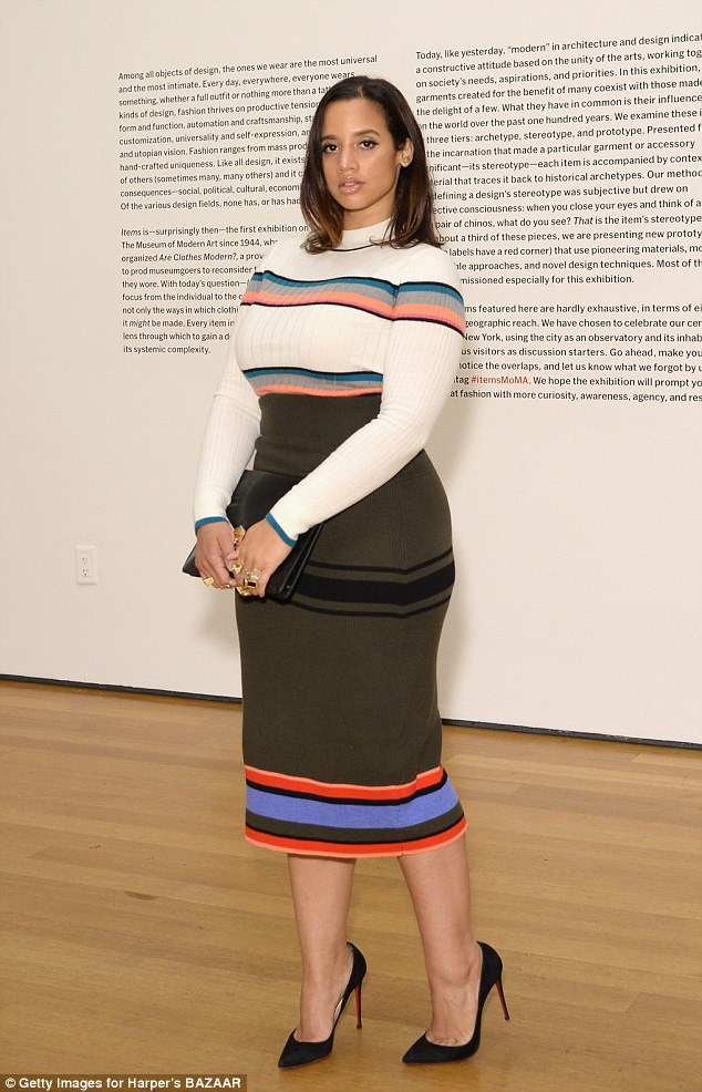 She's got a killer figure:Dascha Polancoenvy-inducing curves on display in a form-fitting dress by Tome at the celebration of MoMA's Fashion Exhibit at MOMA in New York City on Thursday