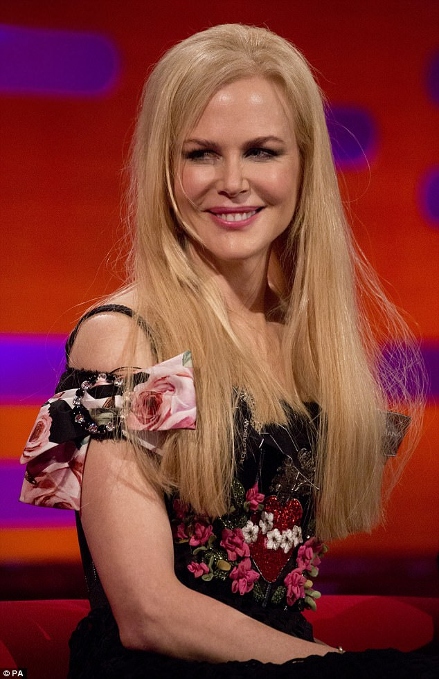 Youthful: Nicole Kidman and Colin Farrell were in great spirits as they waxed lyrical about their latest film project while appearing on Friday night's star-studded The Graham Norton Show