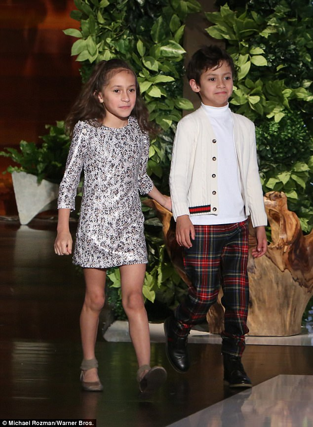 Who? He admitted that Lopez's children Emme and Max (pictured on Ellen in April) on the other hand ¿ whom she shares with ex-husband Marc Anthony ¿ were not as impressed with his career