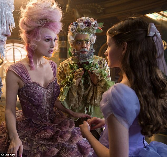 Transformation: Keira Knightley is unrecognisable as she dons an eccentric ensemble and huge bright pink wig to transform into the Sugar Plum Fairy for new film The Nutcracker and the Four Realms