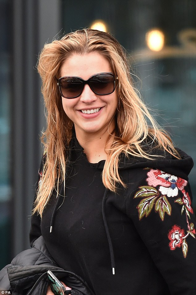 The day after the night before: Gemma left the Village Hotel Club Watford in London smiling, following the Strictly final on Saturday night