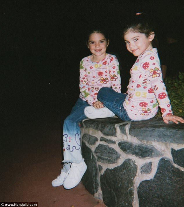 Kendall, 21, shared a fond memory from her childhood, posting a throwback photo of herself alongside Kylie wearing cute matching outfits on Thursday