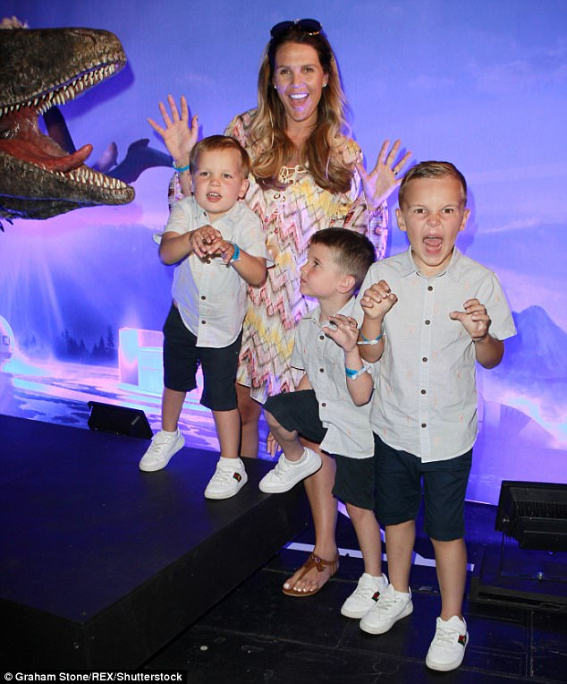 Brood: Danielle is a loving mum to her three boysArchie, six, Harry, five, and George, three