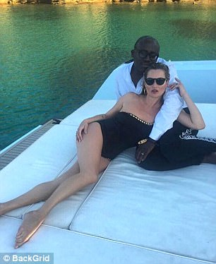 Kate Moss and Edward Enninful  on the waters