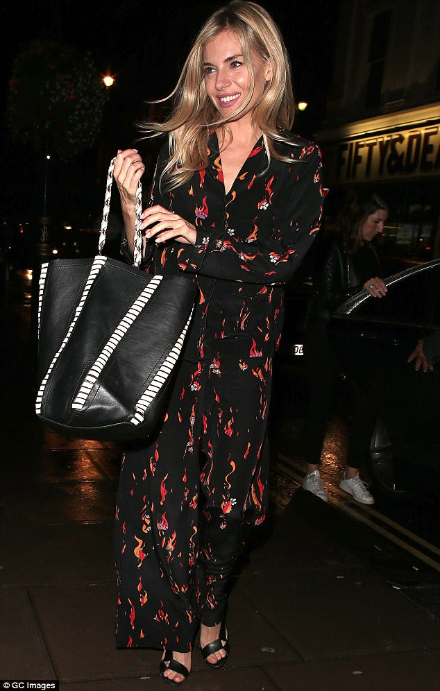 Woman of the hour:Sienna is currently starring as Maggie in the new West End revival of the Tennessee Williams play, and has received rave reviews so far