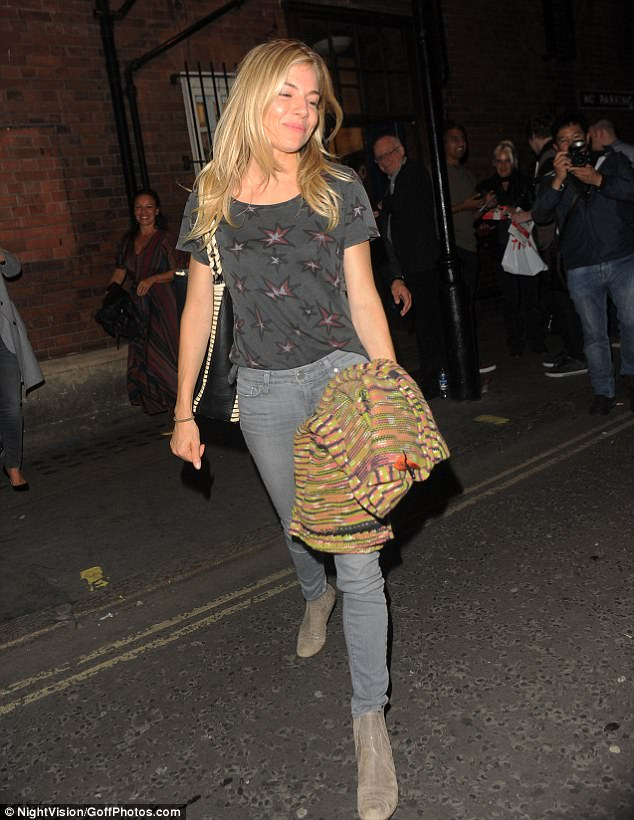 Heading home: Sienna looked a little sleepy as she headed home after her star turn onstage