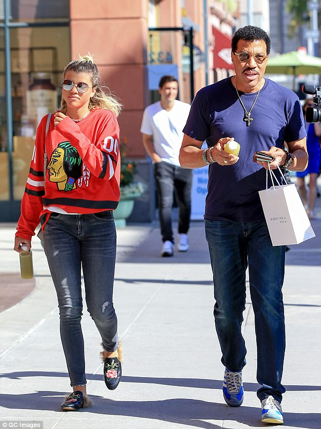 Father and daughter: Sofia is music legend Lionel Richie's by his second wife Diane Alexander, whom he was married to from 1998 until 2004 (pictured September 2016)