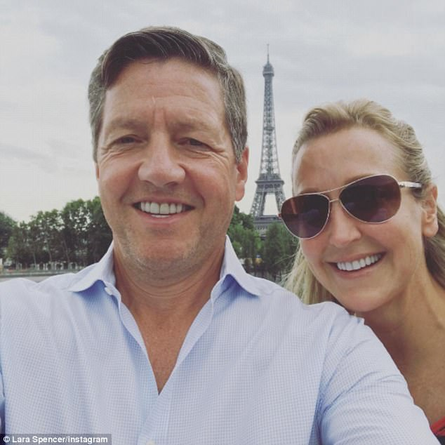 Lara recently returned from a romantic Parisian vacation with her new boyfriend,millionaire Wall Street financier Rick McVey (pictured together)