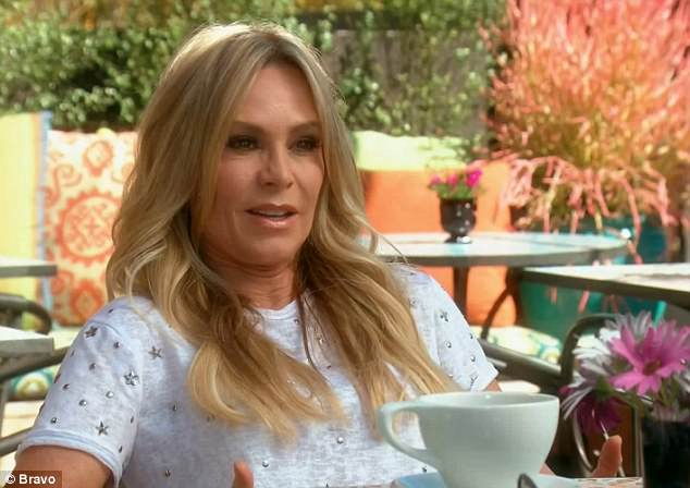 TV star:In 2015 , Sidney posted a strongly-worded message to her mother for airing out their family feud and subsequent estrangement for similar issues; pictured on the RHOC