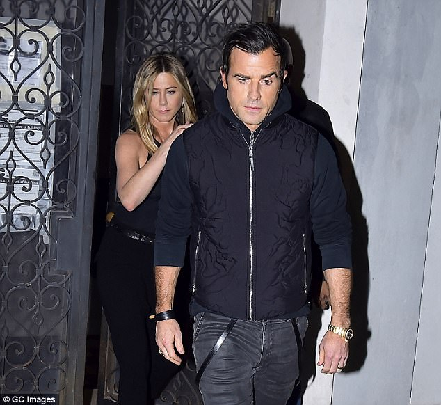 Justin Theroux is involved in a nasty lawsuit with his downstairs neighbor, Norman Resnicow. The elderly lawyer claims he is a victim of the actor's behavior. Pictured: Theroux and his wife Jennifer Aniston leaving the said apartment, located in Greenwich Village, New York