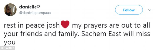 Prayers: As word of the horrific accident spread, friends and locals shared their condolences and sadness at the news online