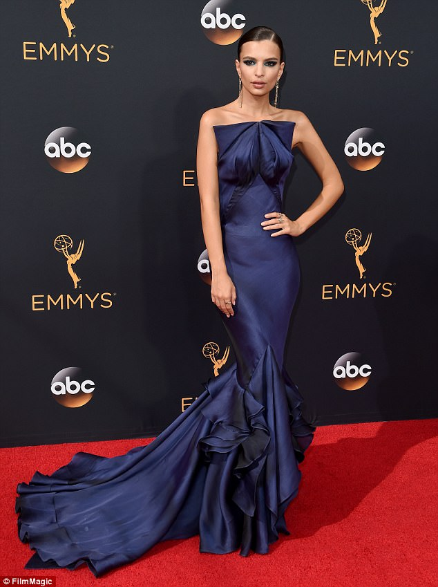 'To your mother, I really apologize': The 26-year-old apologized to Jimmy's mother after saying she didn't really enjoy the sandwiches she made at the 2016 Emmy Awards (pictured 2016)