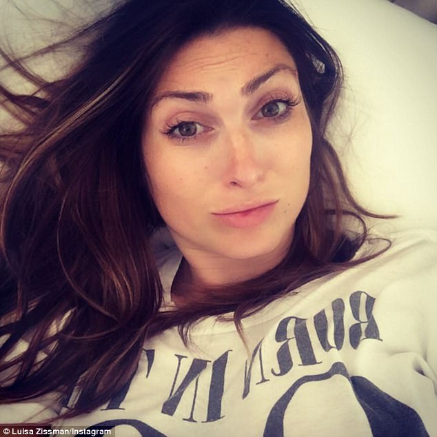 Ouch:Last week the star shared a similar post in which she moaned: 'Ergh pregnancy does not agree with me. In bed got a cold but now my face is aching so weird my jawline is so painful and achy most bizarre feeling ever!'