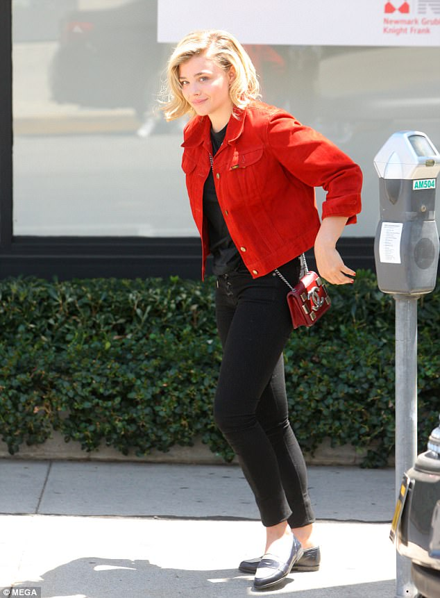 Body confident: Chloe Moretz, 20, looked chic as she enjoyed a stroll in Beverley Hills on Wednesday