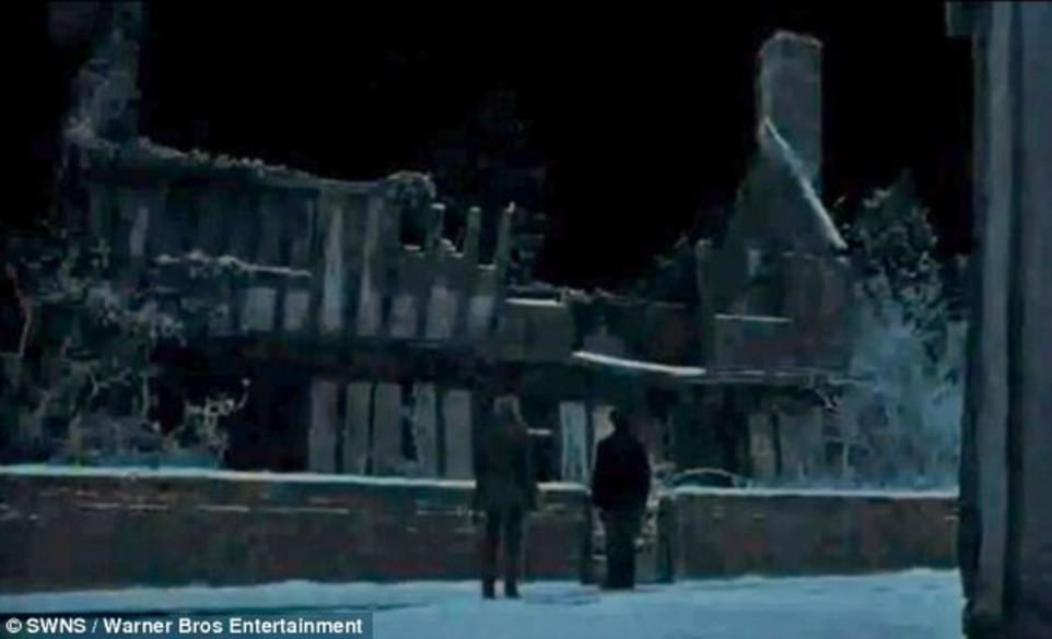 The grade I listed building in Lavenham, Suffolk, was used to create the entire fictional village of Godric¿s Hollow, in Harry Potter and Deathly Hallows Part One (pictured)