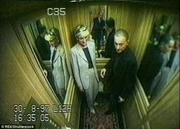 CCTV showing the final hours of Princess Diana and Dodi Fayed at the Ritz in Paris in 1997