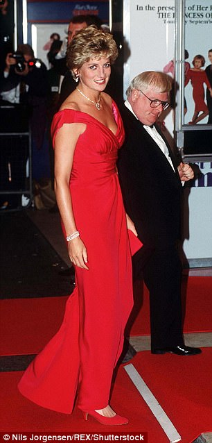 Diana, pictured in 1992, died in a car crash in Paris 20 years ago in August 1997