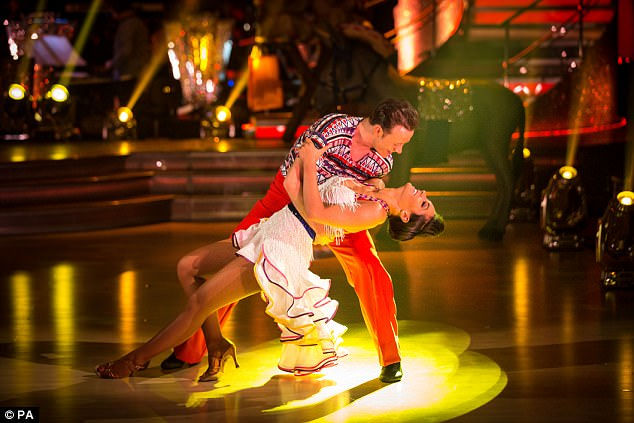Helping hand: Frankie made it to 2014's Strictly final with dance partner Kevin Clifton