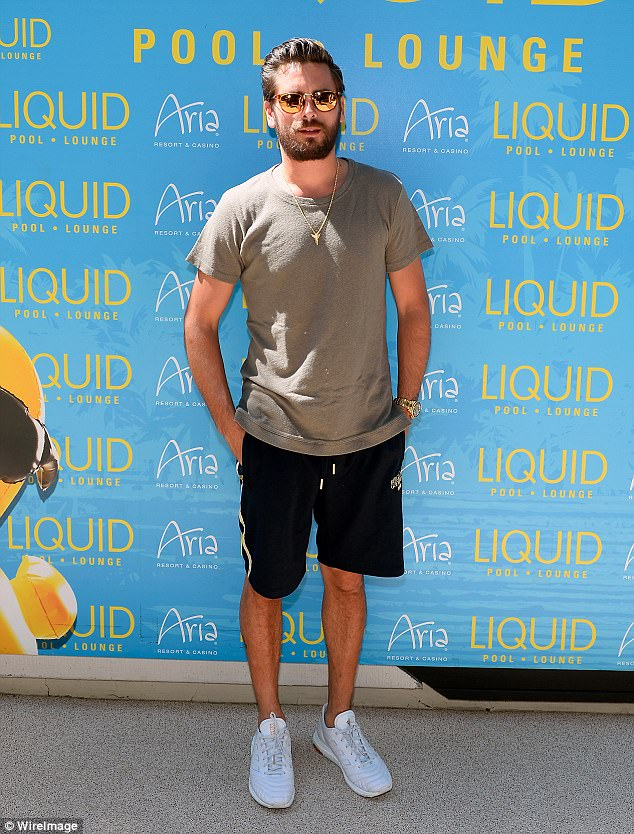 All for show? Scott Disick clarified his 'sex addict' comments with an interview with E! News at the LIQUID day club in Las Vegas on Saturday