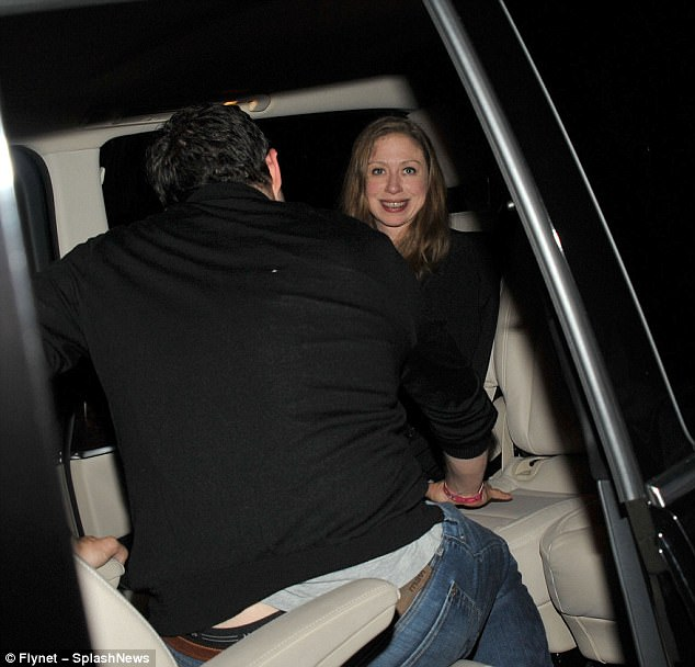 Stateside star: Chelsea Clinton made a surprise visit to the musical spectacle