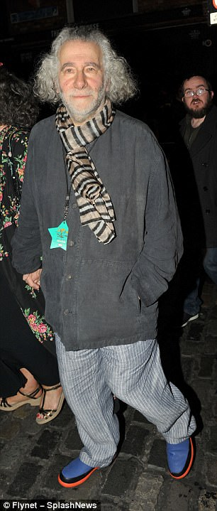 Arriving: Kevin Godley (L) also stepped out to the U2 bash as did Glen Hansard (R)