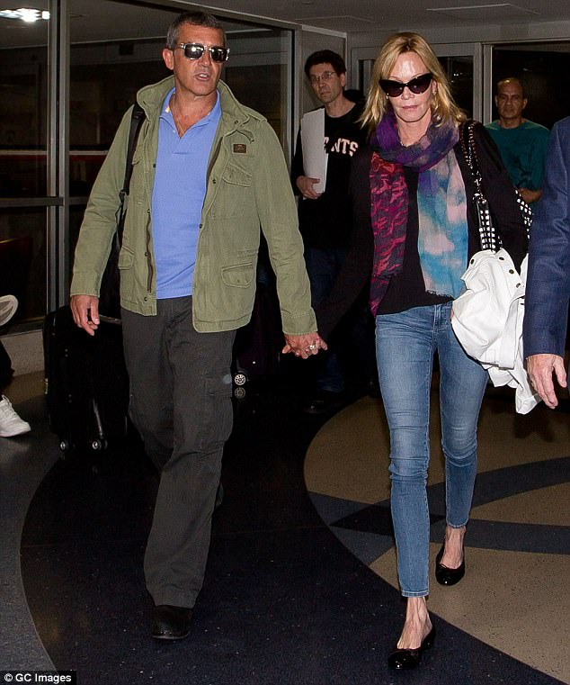 Earlier life: In December 2015, Melanie officially divorced her husband of 19 years, Antonio Banderas. They are seen at LAX airport in March 2014