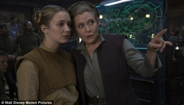 In theaters! Fans can catch Fisher's final performance as General Leia Organa alongside Billie as Lieutenant Kaydel Ko Connix in the eighth installment of Star Wars: The Last Jedi