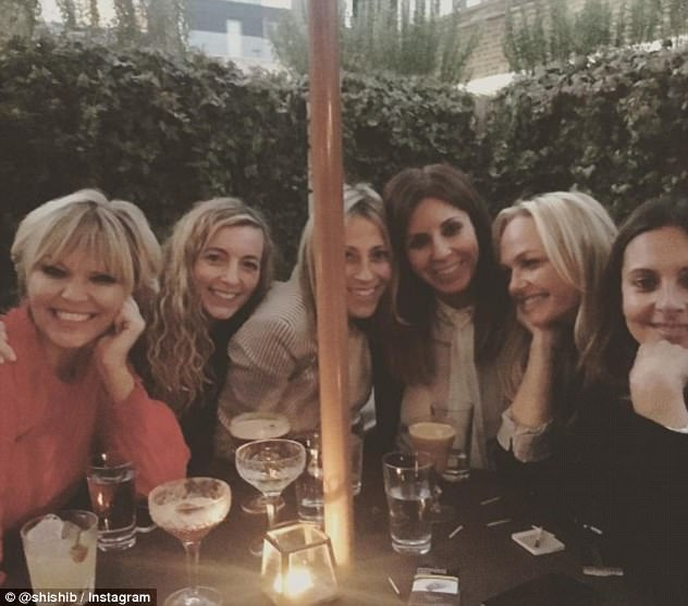 Blonde ambition:Branding themselves the London Lady Squad they were also joined later in the evening by former X Factor presenter Kate Thornton