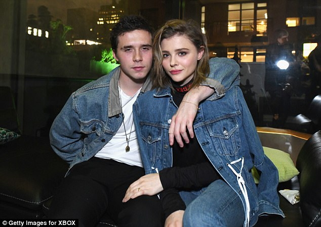 'I felt like things were falling apart': Speaking to Stellar on Sunday,Chloë Grace Moretz (right)revealed just how hard it was to deal with her public split withBrooklyn Beckham (left)