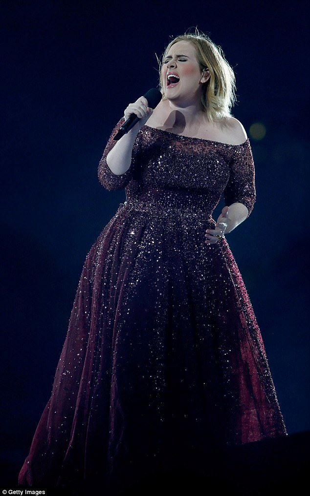 Rolling in the dosh: Adele has amassed £40million over the past 12 months, making it the most lucrative year of her career so far