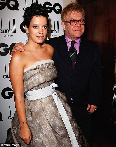 Lily Allen and Sir Elton John