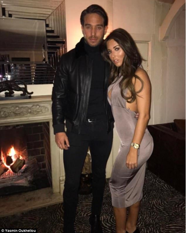 Oh my:After a back and forth between the stunning newcomer and former cast member, Yazmin went on to make the bold claim that Danielle was stroking James' back and 'hasn't got over him' - despite dating footballer Daniel Spiller