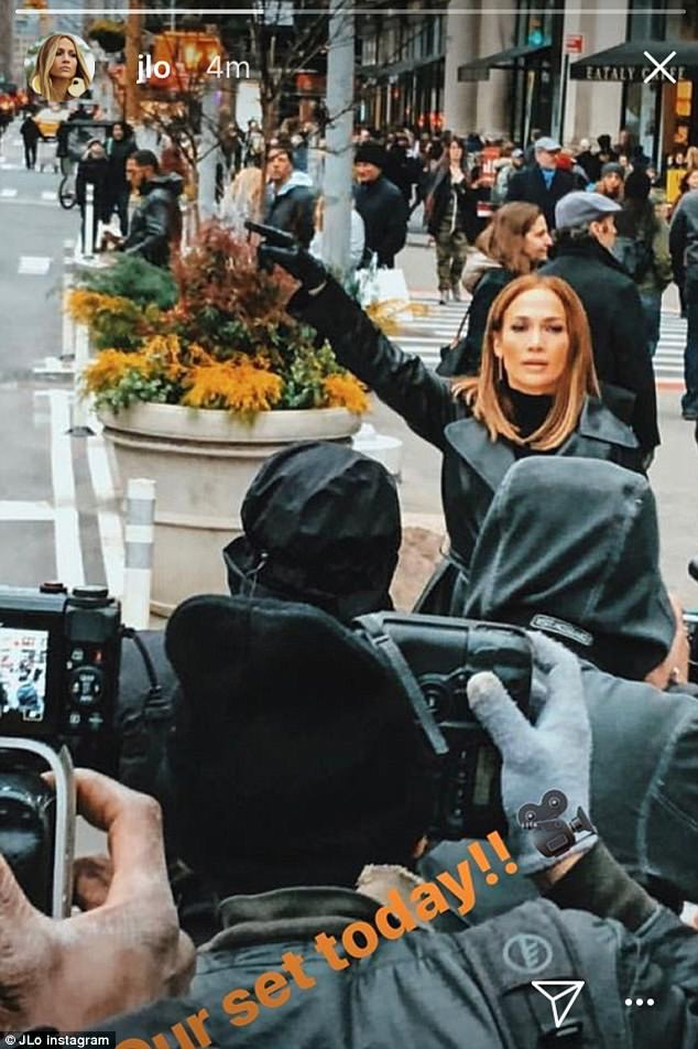 Behind the scenes:Jennifer has recently been sharing behind-the-scene moments on set as a proud producer