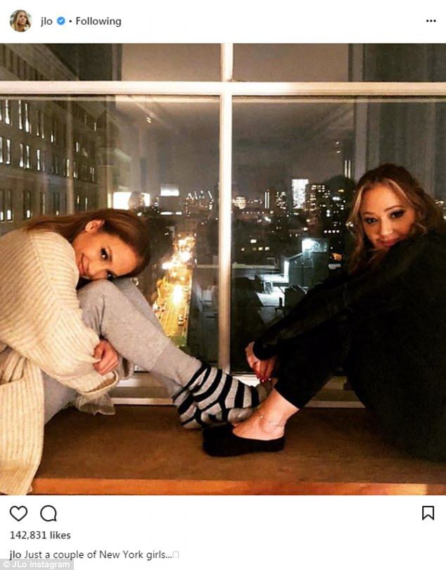Best friends!The girlfriend of Alex Rodriguez also posted a photo of herself and long-time friend Leah Remini