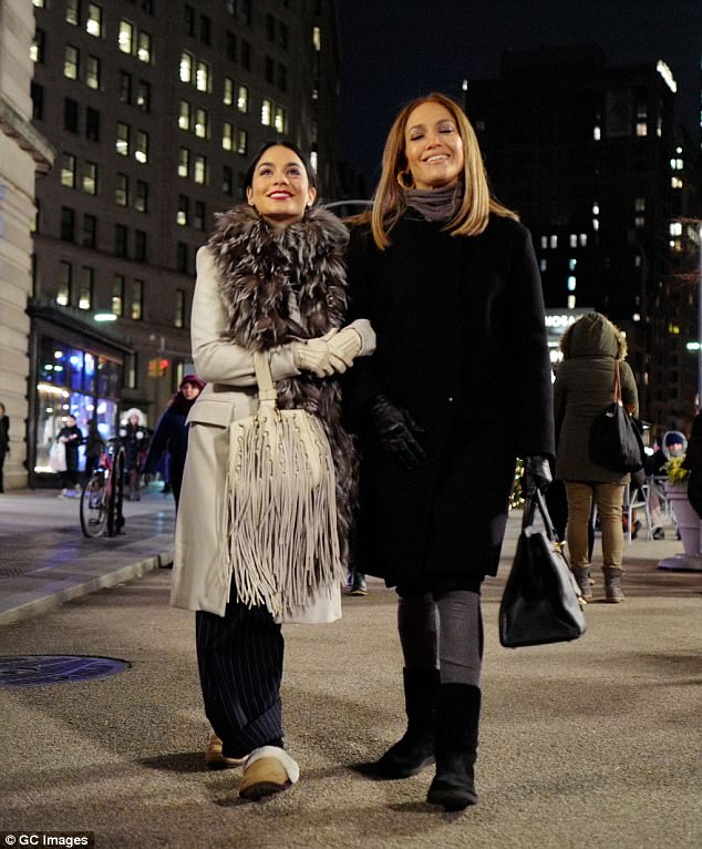 City girls!Jennifer Lopez and her co-star Vanessa Hudgens looked like real city girls as they strolled through New York City while filming scenes for their movie on Friday