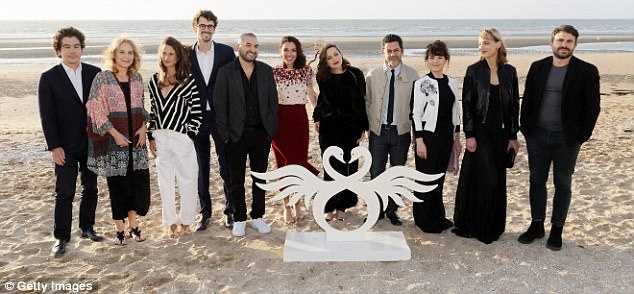 Esteemed line-up: The actors are jury members for the festival held in Cabourg, France