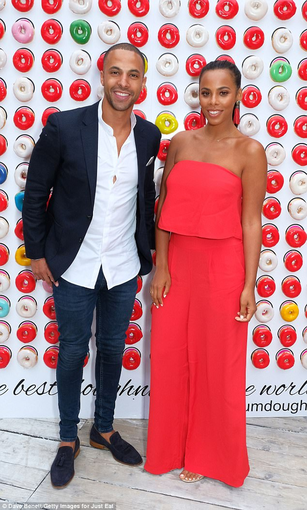 Love-struck: Marvin and Rochelle Humes looked more besotted than ever as they attended the VIP launch of Just Eat Food Fest in London on Thursday