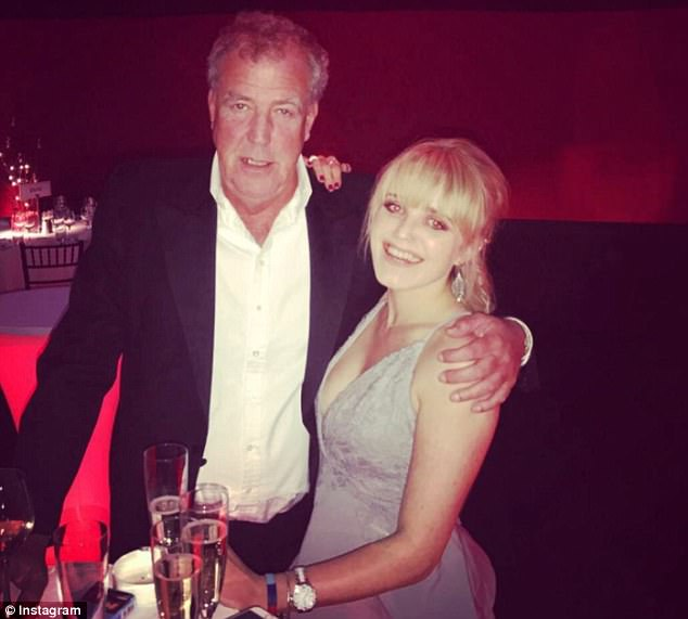Proud: Jeremy and his eldest daughter boast an incredibly close relationship, with the former Top Gear host gushing that he is 'lucky' to have had such a 'perfect child'