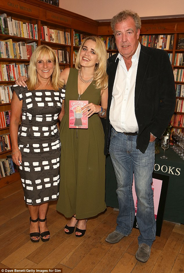 Family: Jeremy was joined by ex-wife Frances Cain on Thursday evening as the former couple helped daughter Emily celebrate the launch of her first book in London last week