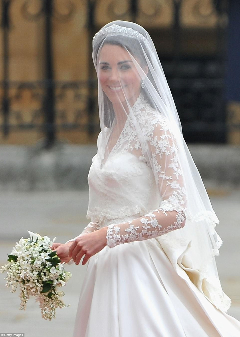 Kate famously plumped for Alexander McQueen for her big day. Creative director Sarah Burton has previously spoken about the 'happy experience' of designing Kate Middleton's show-stopping 'fairytale' gown for the 2011 royal wedding