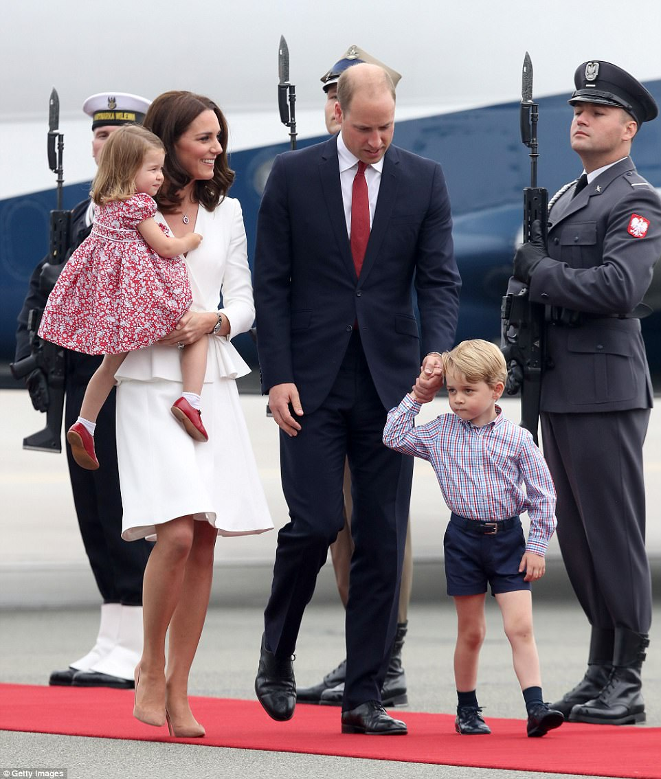 Family affair: The visit to Poland and Germany offers the family a final chance to travel together on official business before George starts school. William and Kate's trip was taken at the request of the Foreign and Commonwealth Office