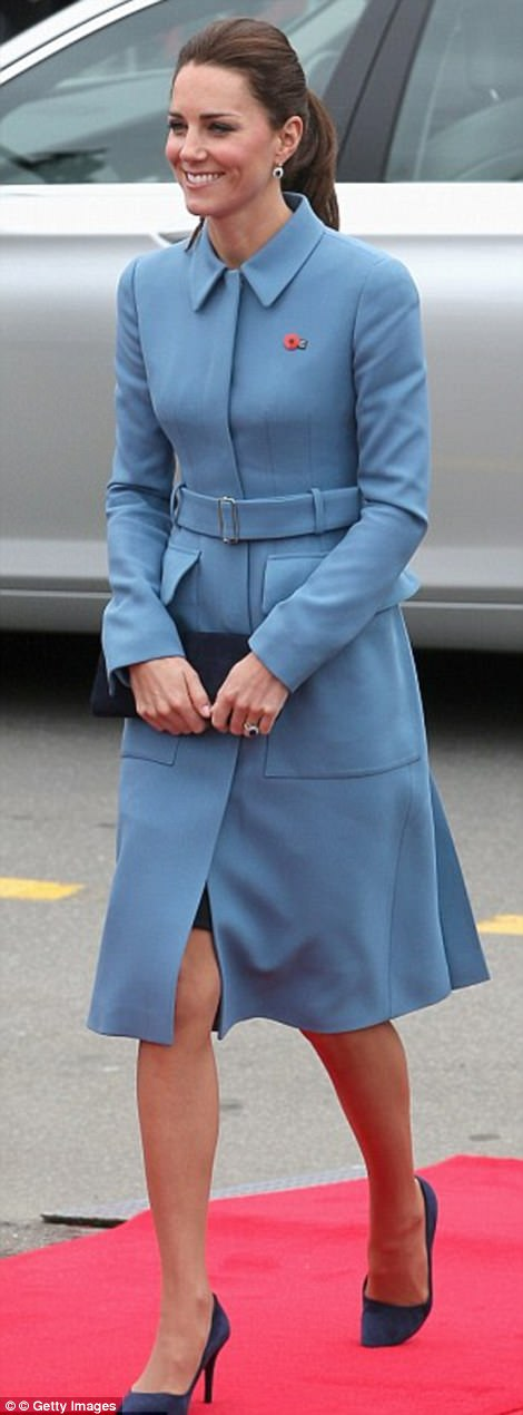 Kate at a New Zealand war remembrance ceremony