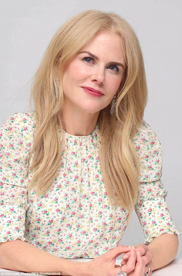 A break from the norm: Nicole's sense of style is typically more conservative in style - pictured at the Beguiled photocall in LA on June 11