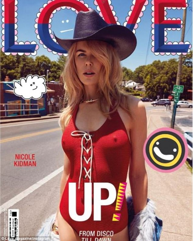 'What was I doing? I lost my mind!': Nicole posed in a VERY racy red swimsuit for the cover of LOVE as she reveals she thought the pictures were too 'crazy' to publish