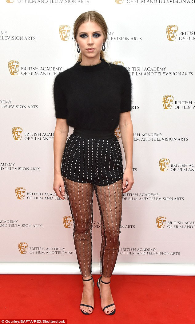 Supportive: Actress Hermione Corfield turned out to celebrate behind the scenes talent at the BAFTA TV Craft Awards on Sunday night