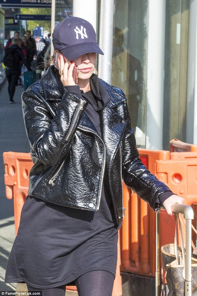 Her arrival follows news that the father of Ferne's unborn child has been arrested and charged with 14 counts of wounding with intent to cause GBH