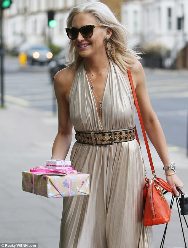 Prezzies! The Los Angeles native was swamped with presents for Binky, 26, and her 27-year-old beau Josh Paterson - known on the Kings Road as JP