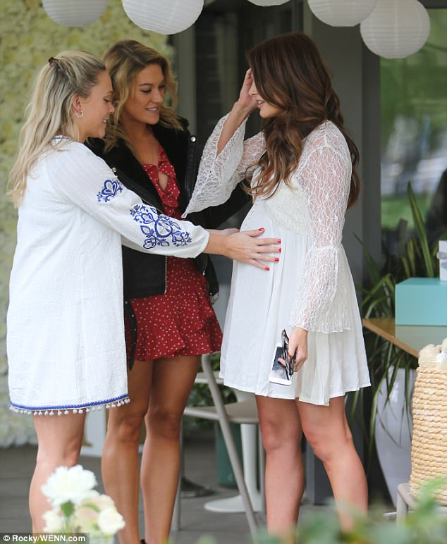 On the way:Binky announced she was pregnant in January - and has since assured fans that the news has only brought her closer to on/off beau JP, who is the baby's father