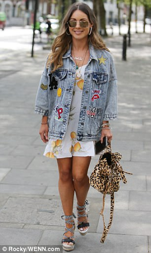 Chic: Leading the glamour of guests at the bash was Louise Thompson, who embraced the gloriously sunny weather in a thigh-skimming summer dress